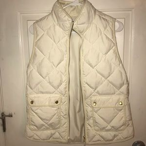 White / cream Jcrew puffer vest